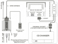 Адаптер Bluetooth AUX Yatour YT-BTA  TOYOTA TOY2 (Новая версия 2018г)